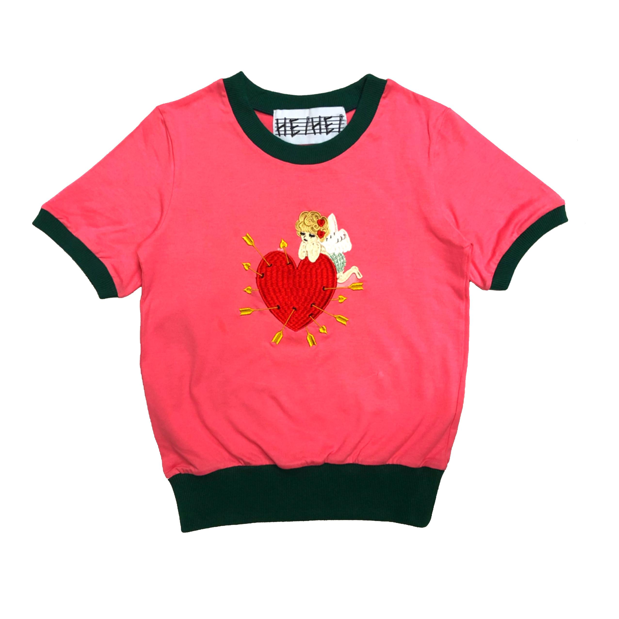 刺繍POPミニTシャツ(天使/PINK)