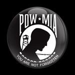 ゴーバッジ(ドーム)(CD0205 - FLAG POW MIA) - 画像1