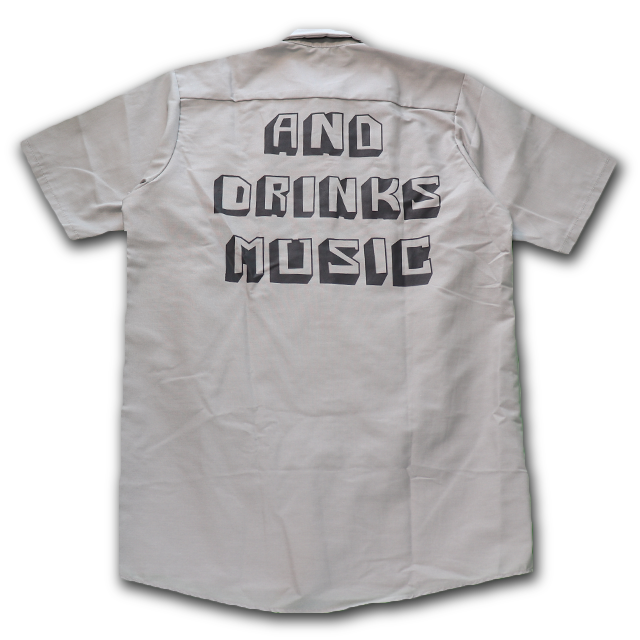 AND DRINKS MUSIC Short sleeve Work shirt