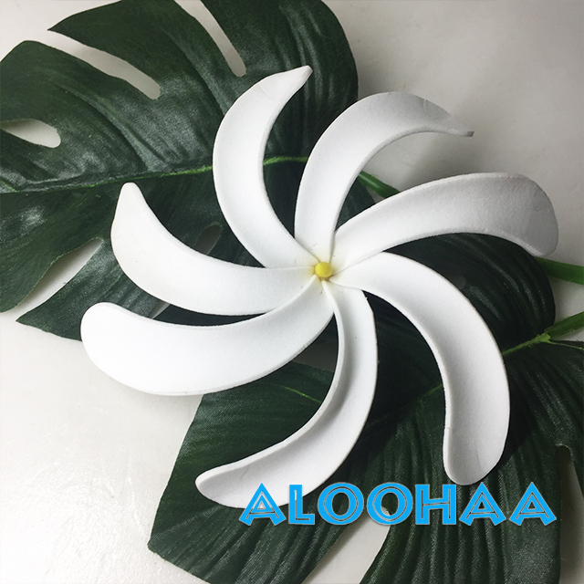 ティアレ L ヘアクリップ ウレタン造花ハワイアン、フラ、タヒチアン、衣装