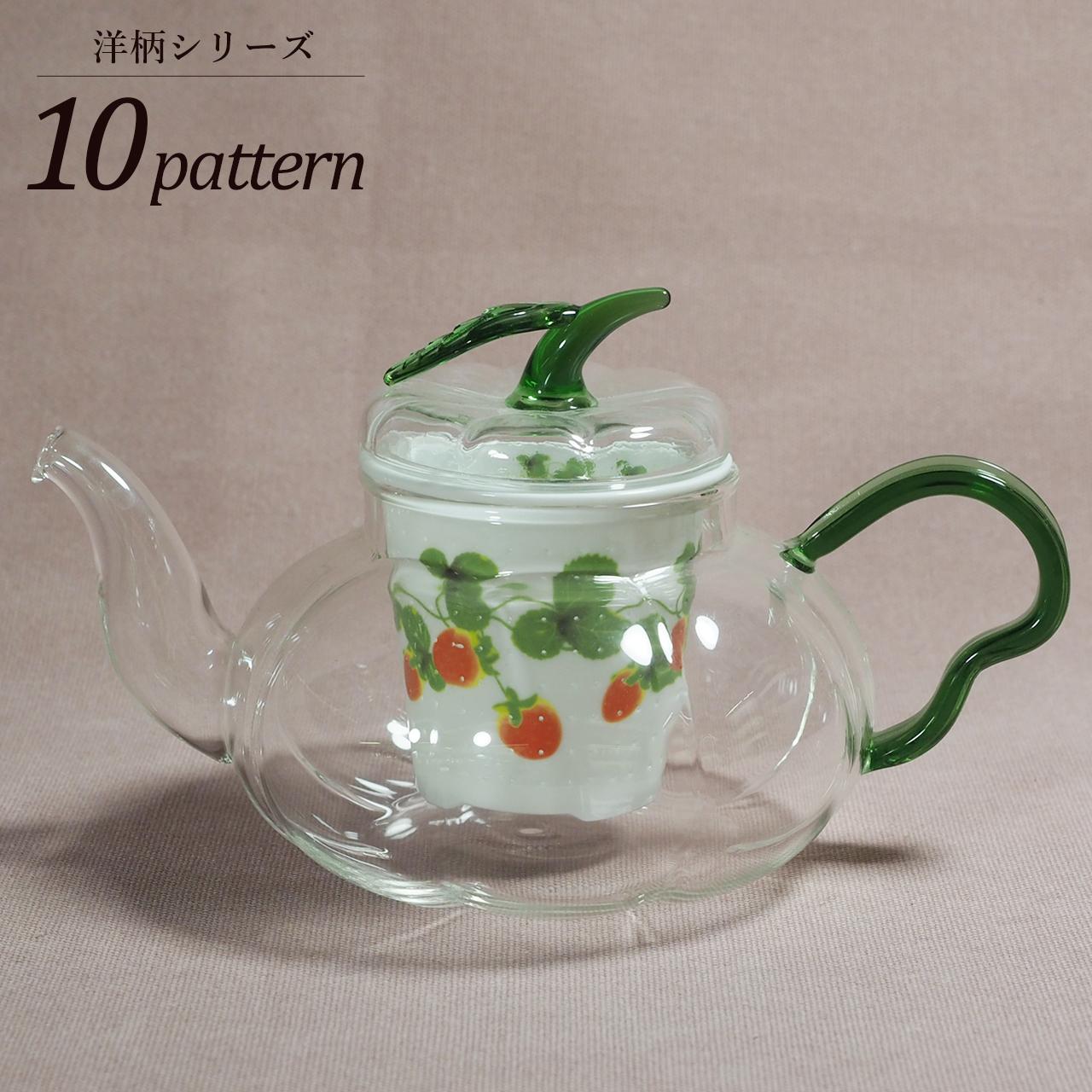 パンプキンポット グリーン 洋柄シリーズ 10-013-B