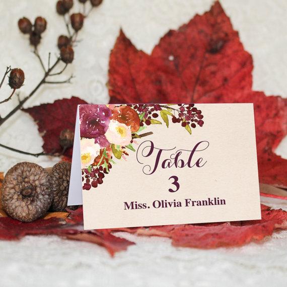 【Fall or Winter】ゲストが何名でもこの値段♥︎自分で作る海外ウェディング風 席札│結婚式