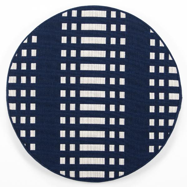 JOHANNA GULLICHSEN Disc Cushion Nereus Dark Blue