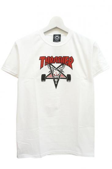THRASHER TWO-TONE SKATEGOAT S/S WHITE スラッシャー