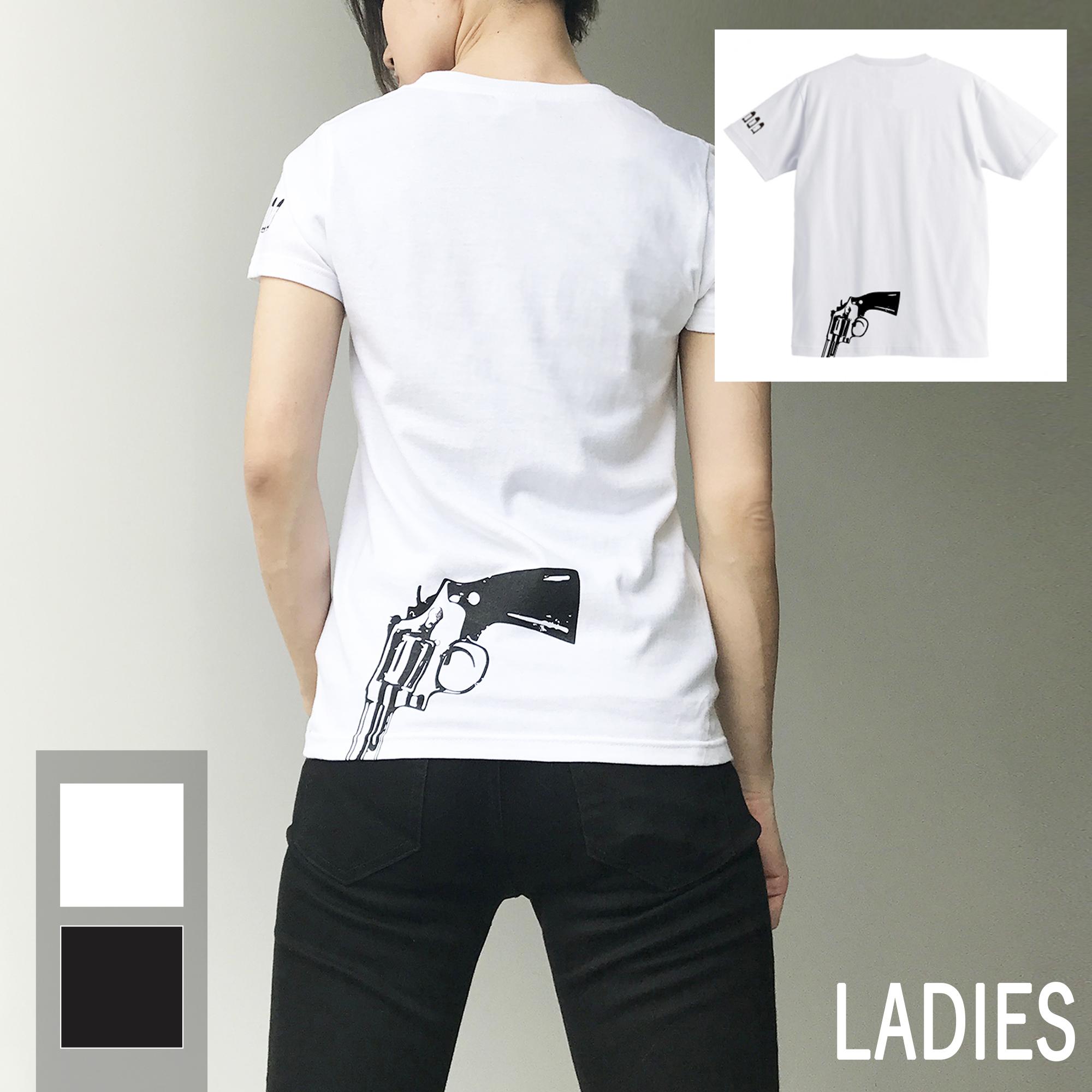 バックプリント  ガン T-shirt(レディース)