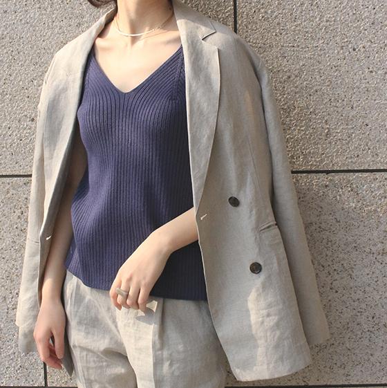 【 calmoo 】- 02-010601 - リネンダブルジャケット