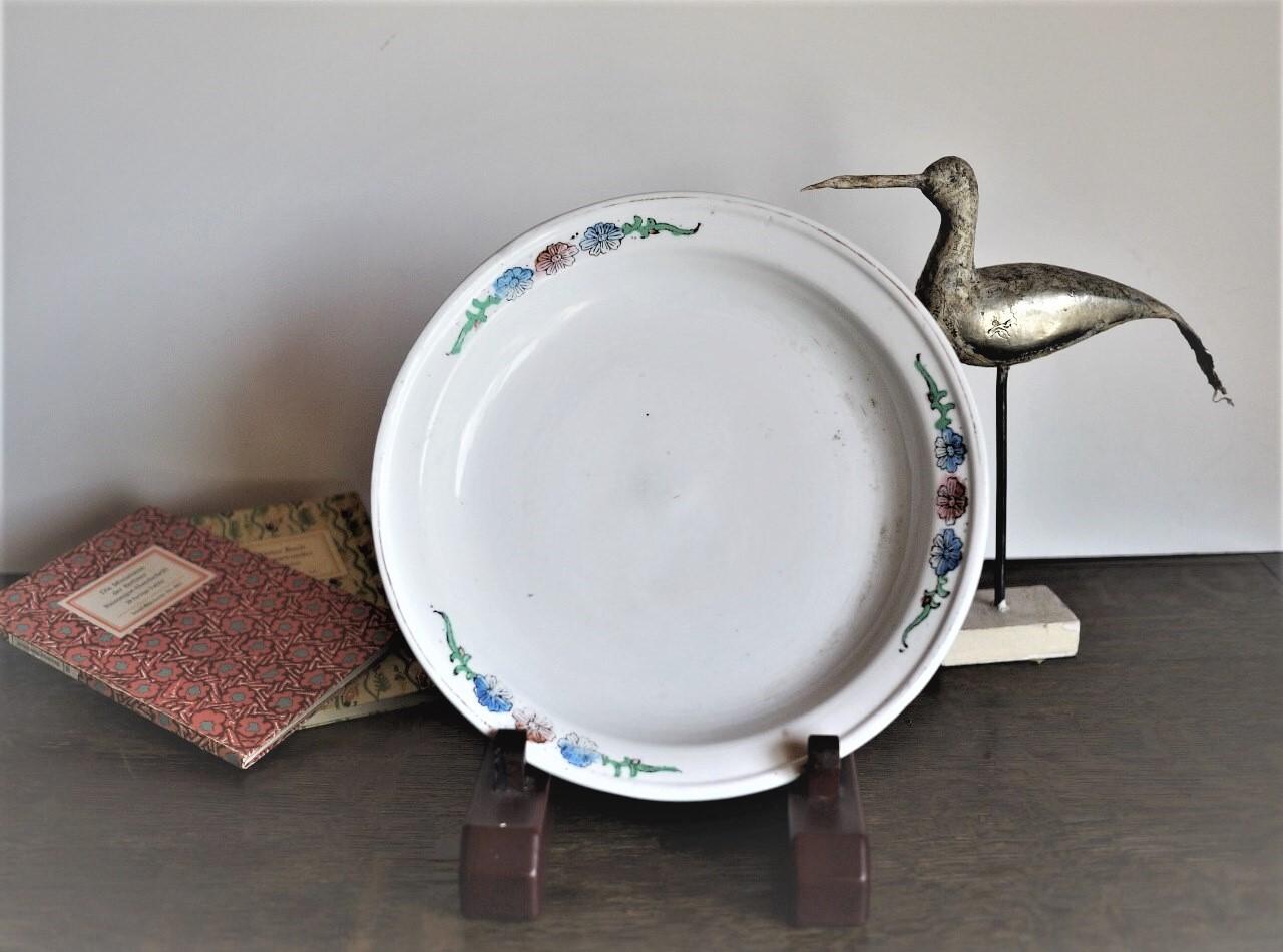 白いお皿 アイアンストーン 半磁器リム皿 白色硬質陶器