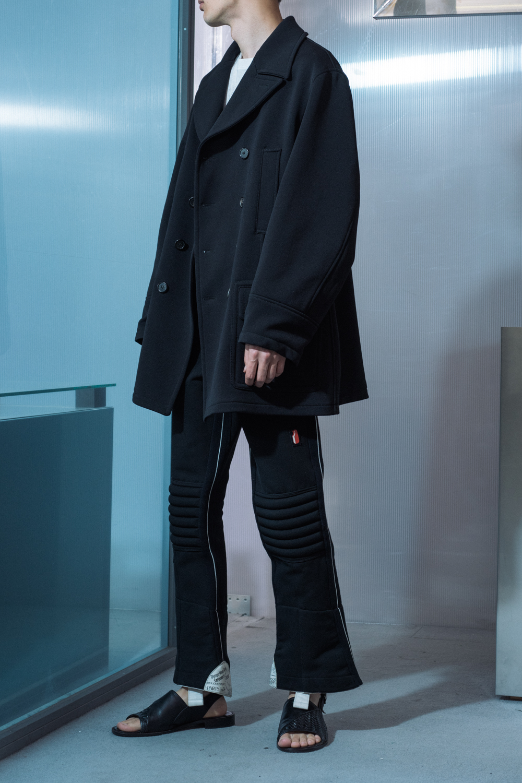 """PRADA"" Thick Jersey Cloth Pea Coat"