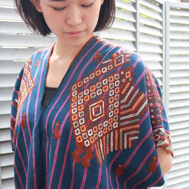 鳥の織り柄ウィピル / GUATEMALA グアテマラ