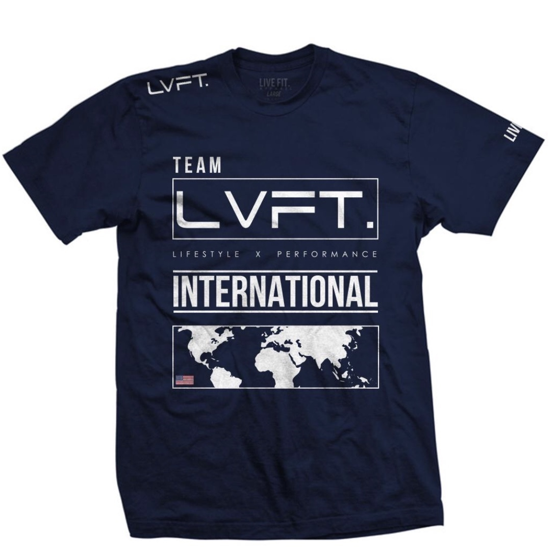 LIVE FIT International Tee - Navy