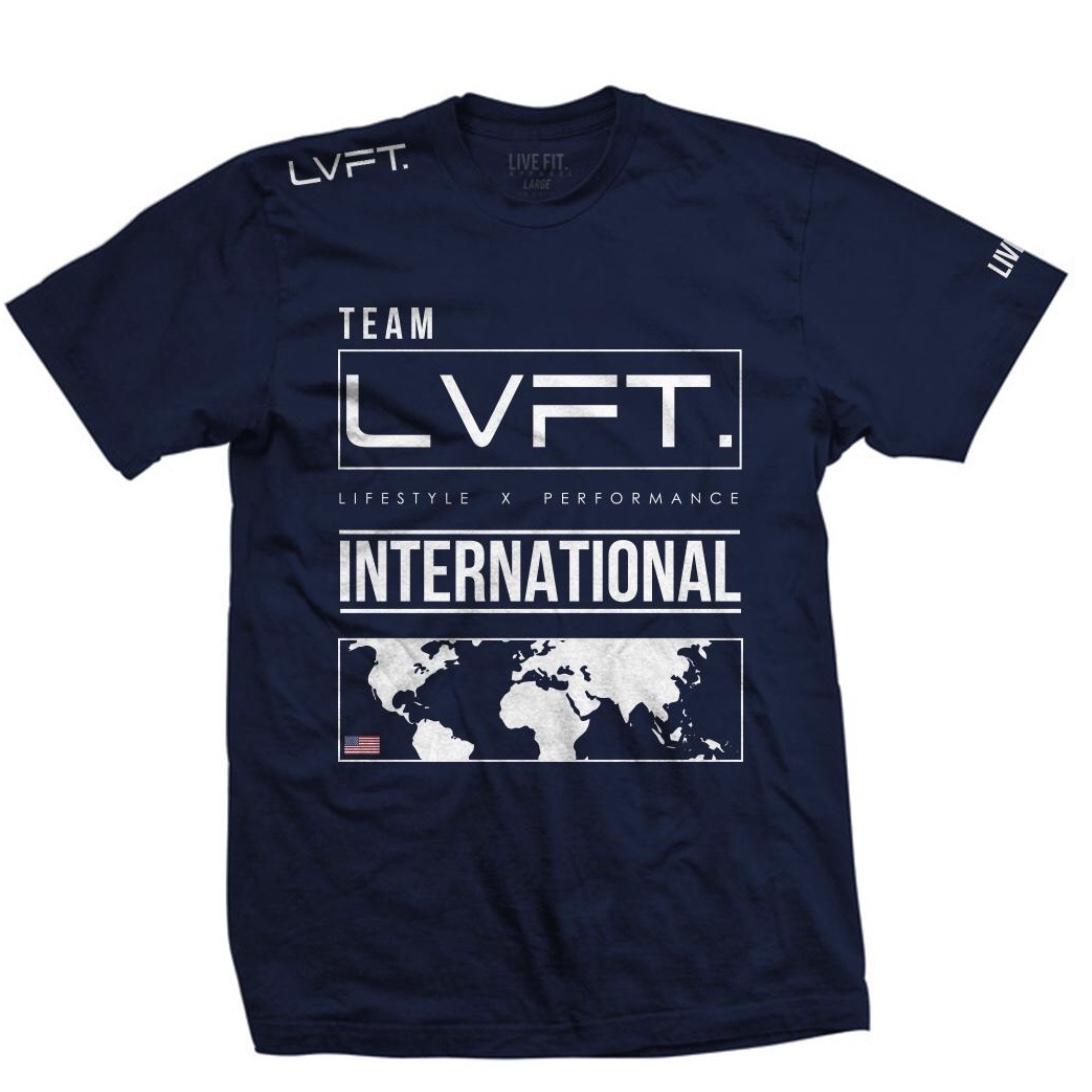 LIVE FIT International Tee - Navy