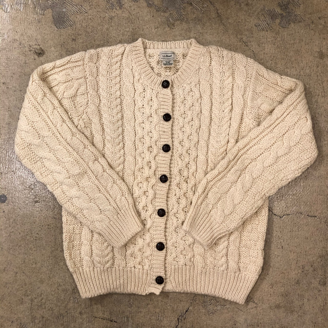 LLBean Cable Cardigan ¥8,400+tax