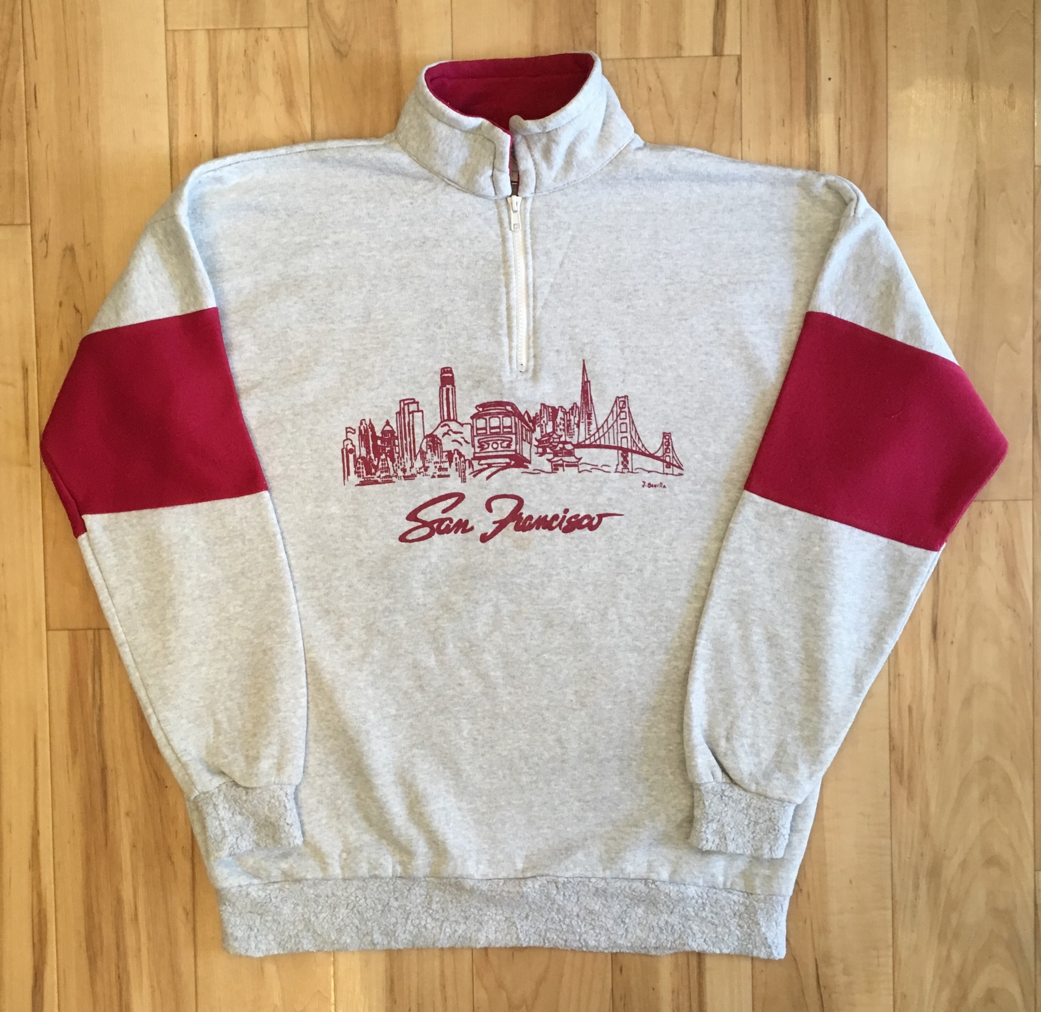 San Francisco Half Zip Sweat