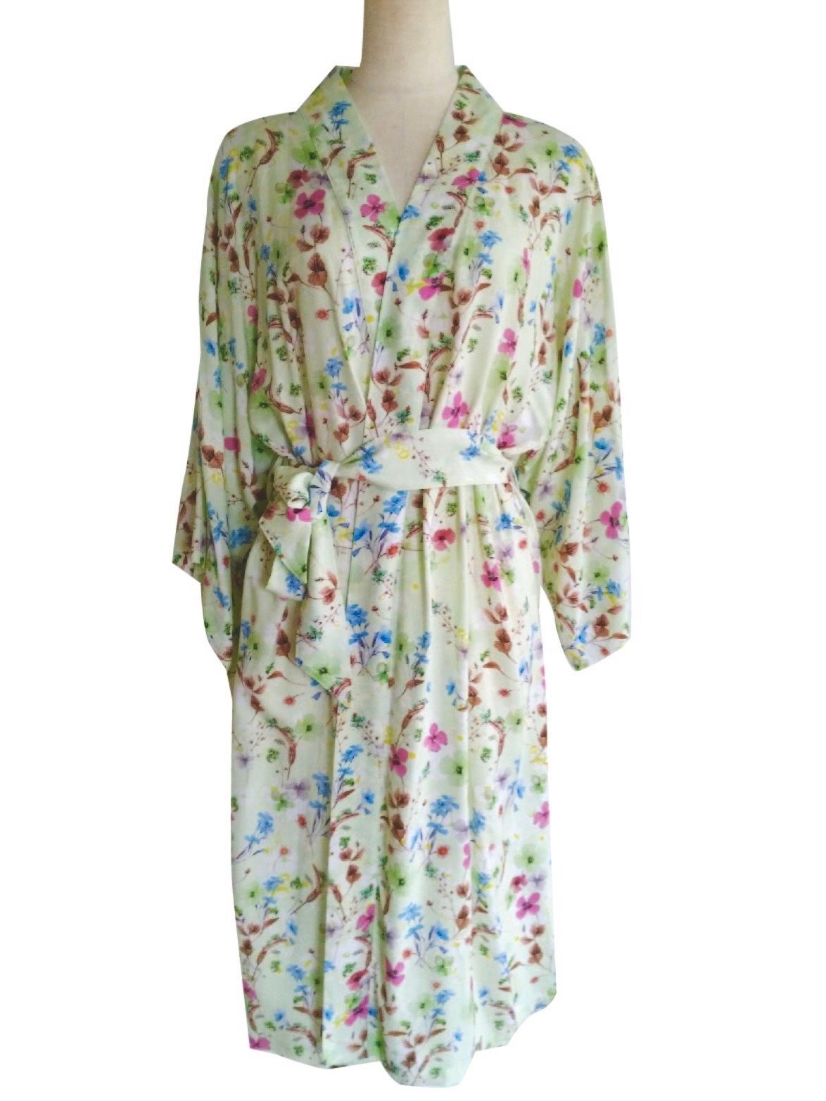 Kimono Robe Midium length Pansy Mint ローブミディアム丈 パンジーミント