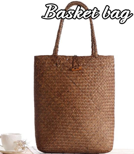 トートバッグ かごバッグ 草編み バッグ 海 軽量 ビーチ オシャレ 麦わらバッグ かわいい 夏バッグバッグ ピクニック レディース