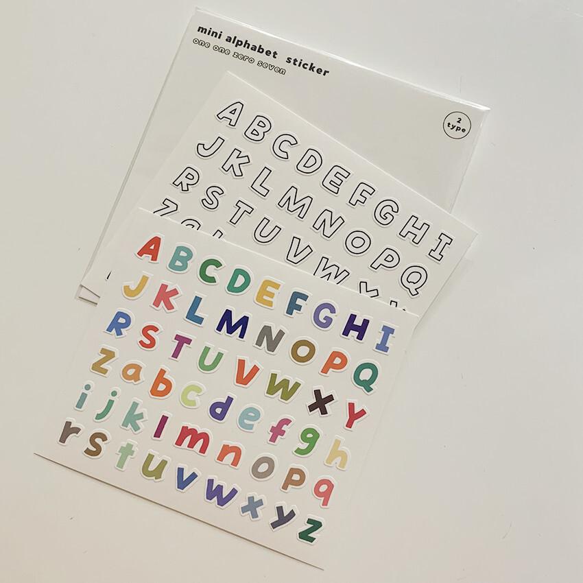 [OS-28] ミニ アルファベット ステッカー セット (2枚)