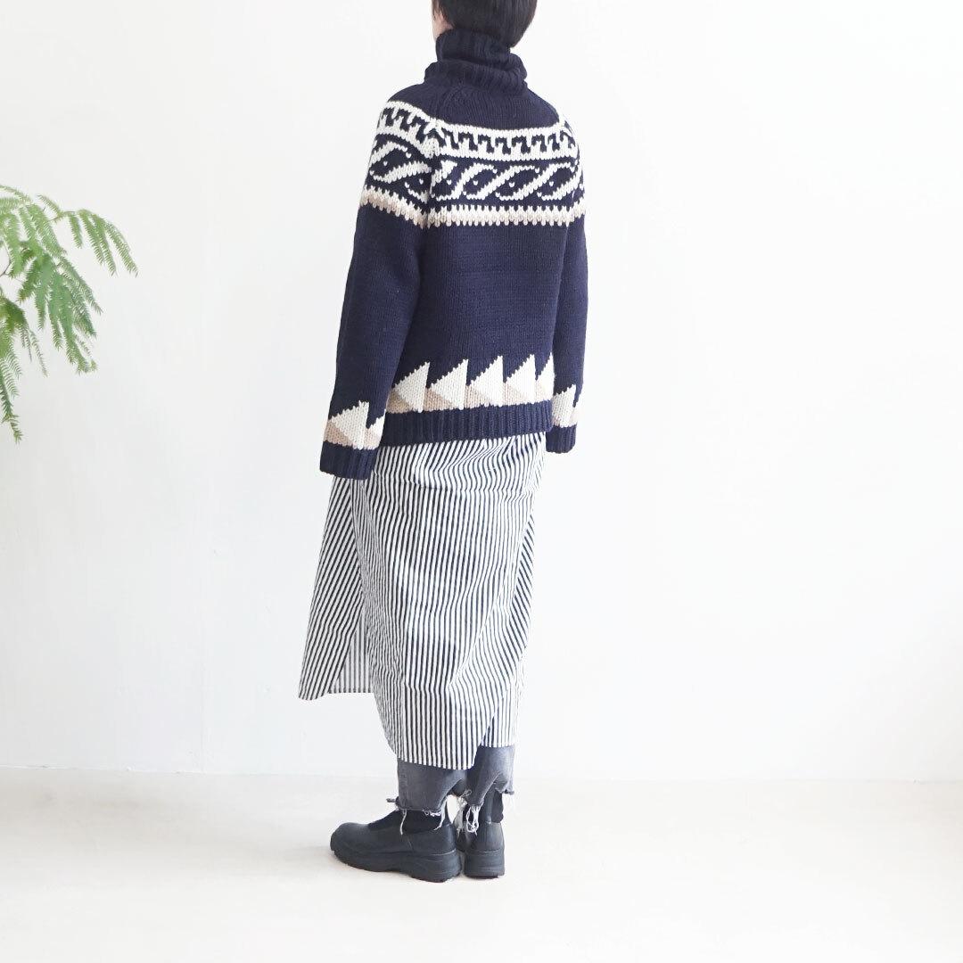 ichi イチ ジャガードタートルニット (品番200471)