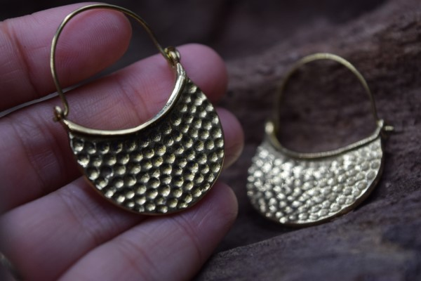 真鍮ピアス -逞しさ- 【India】