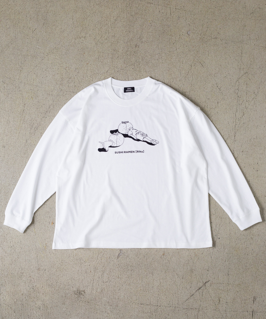 「みかん頭」MONO OVERSIZED LS T-SHIRT