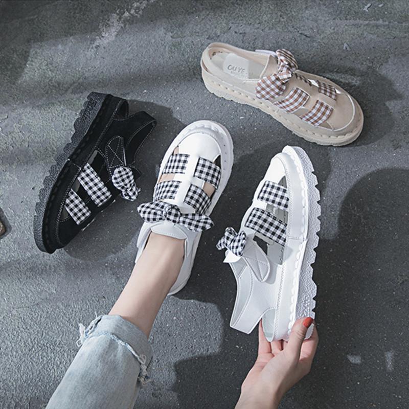 【shoes】キュートチェック柄ファッションサンダル22291765