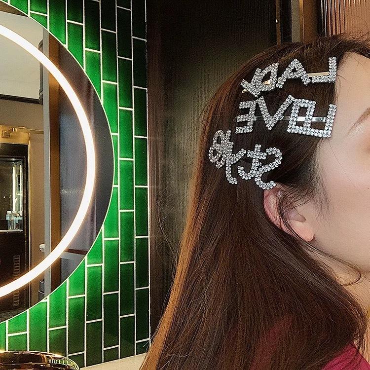stone logo hair pin