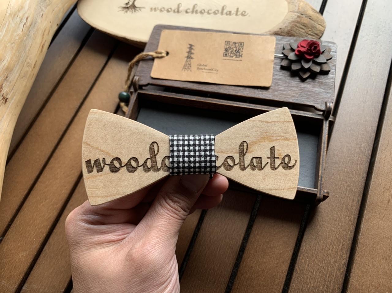 木製 蝶ネクタイ #woodchocolate - 画像2