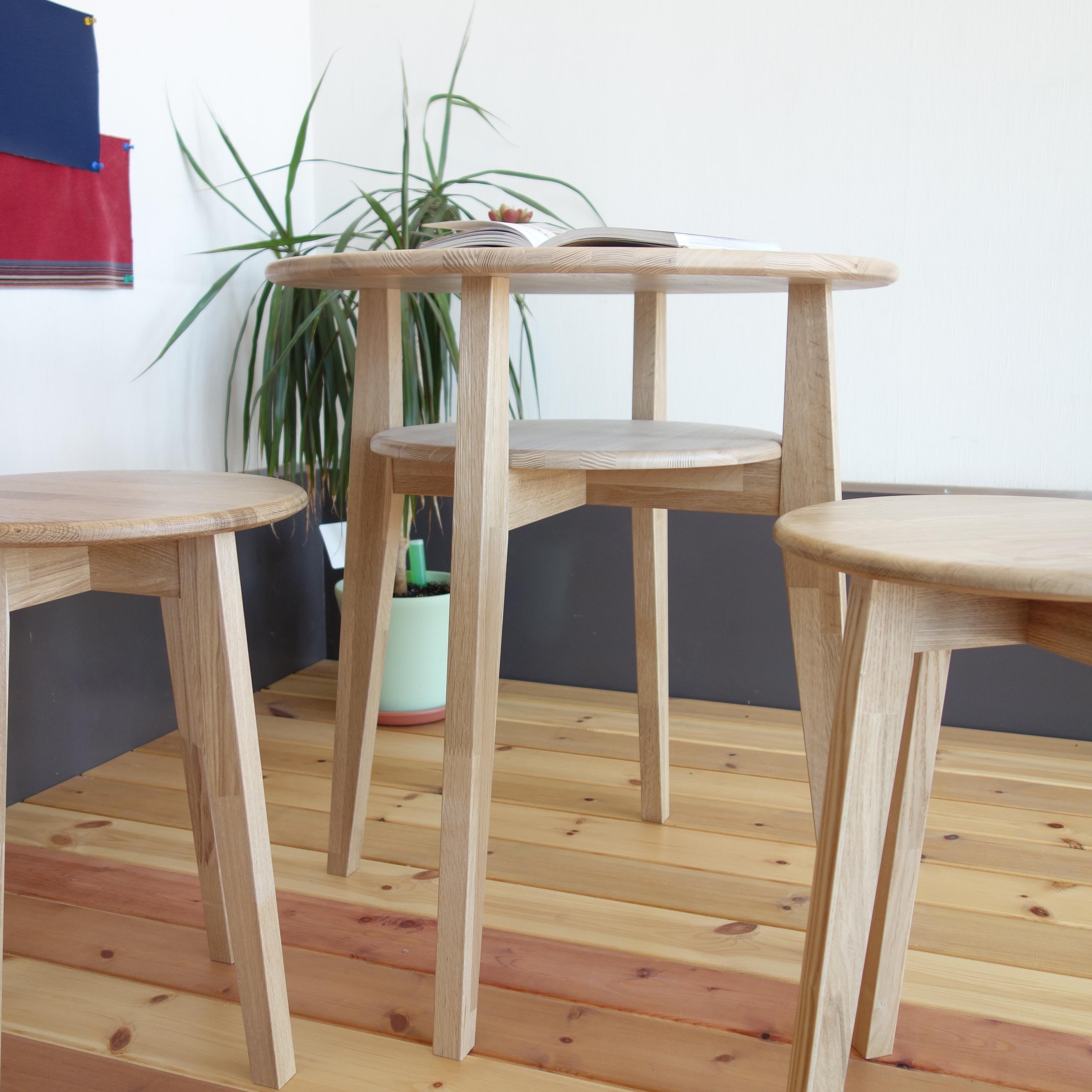【カフェテーブル 3点セット】 テーブル×1 スツール×2 - 画像3
