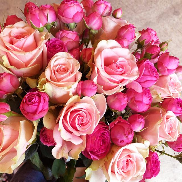 【Bouquet】Pink Rose Bouquet(Deluxe)