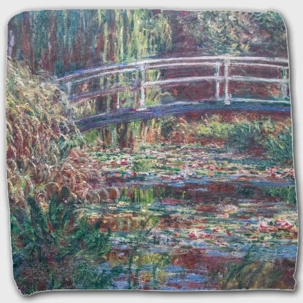 モネ「睡蓮の池、バラ色の調和 1900」 ハンドタオル