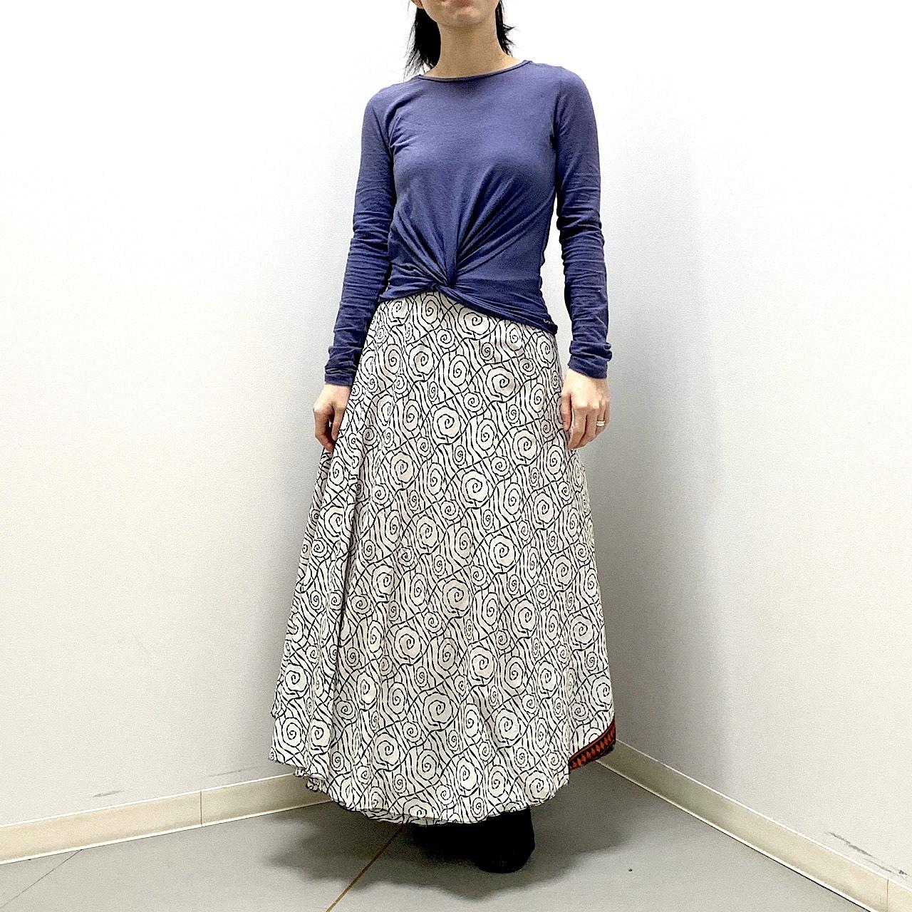 dsl-198 シルクサリー 巻きスカート ロング