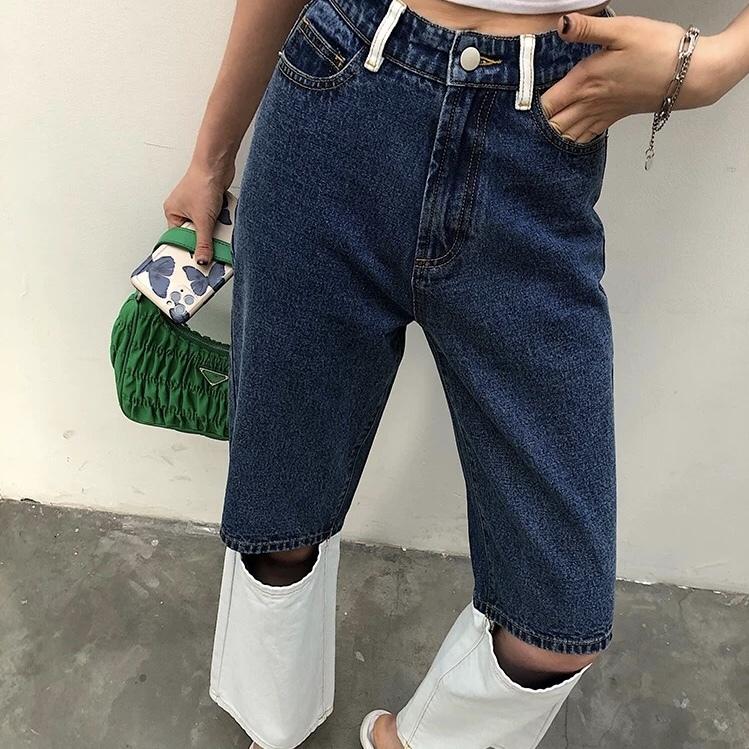 white below the knee pants