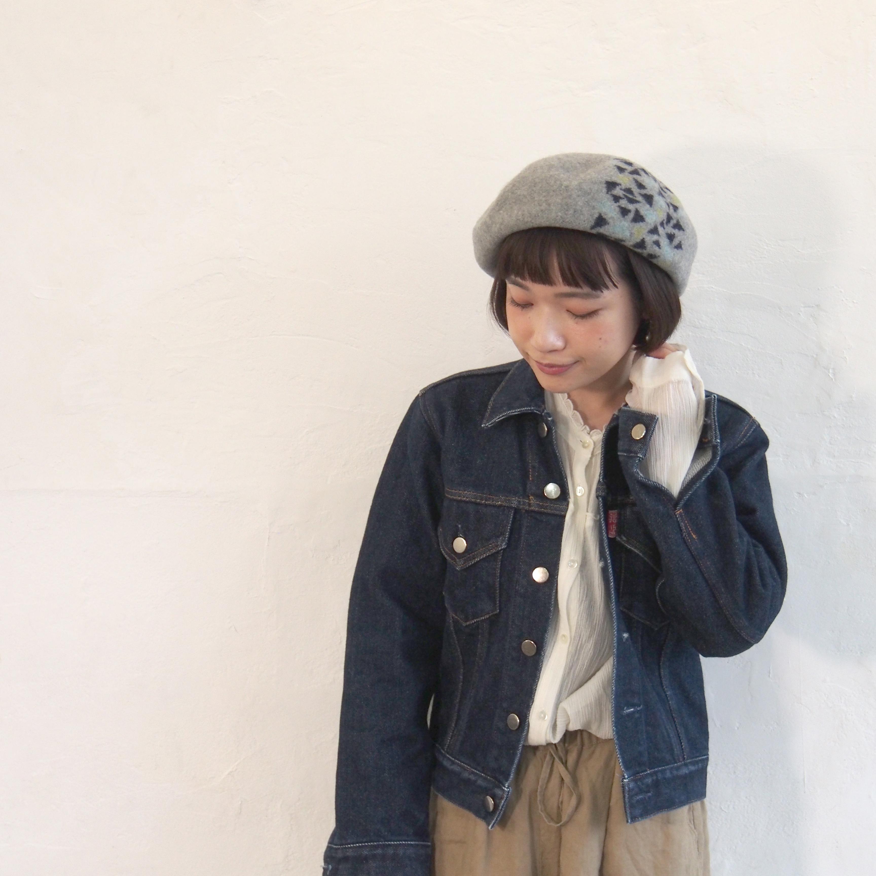 【BuLuKa】さんかくパーツベレー(リンネル12月号掲載) 98-1338