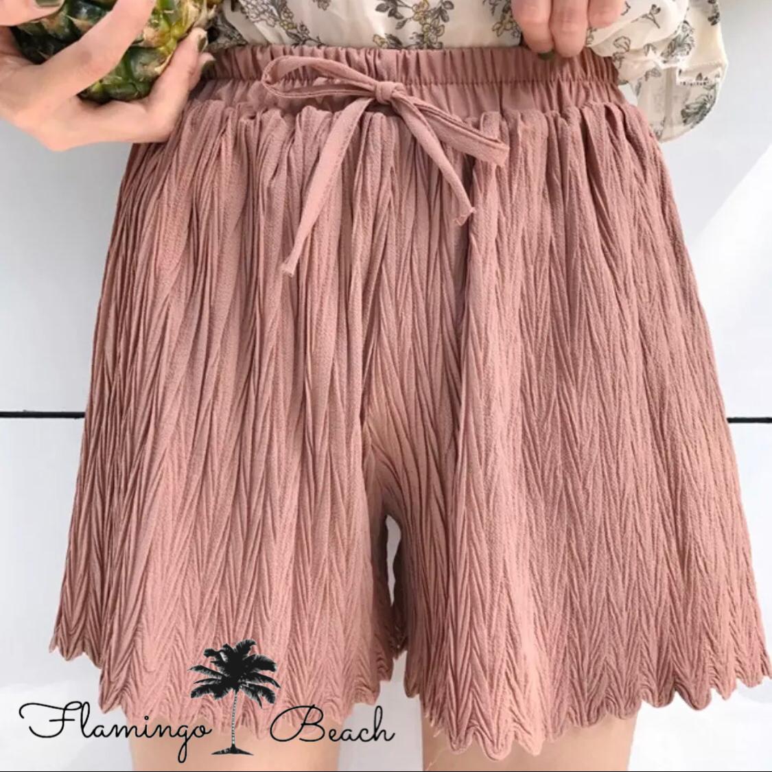 即納フリーサイズ【FlamingoBeach】ショートパンツ