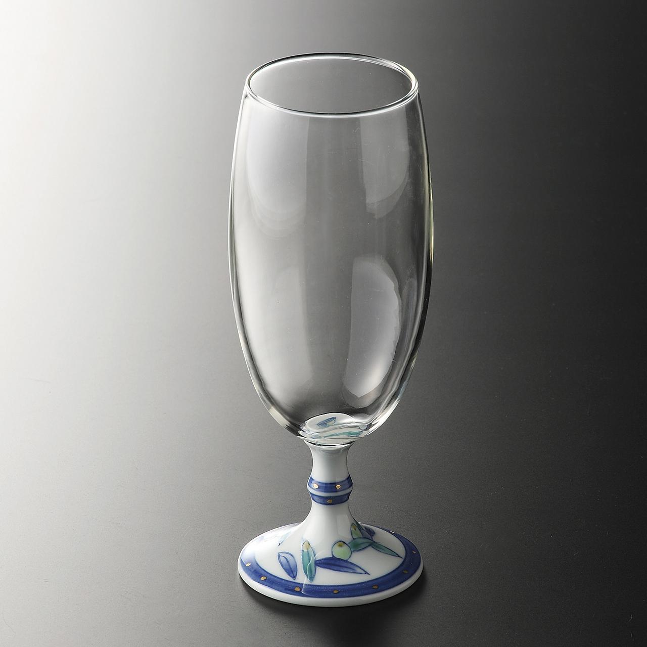 ビールグラス (オリーブ) 20-403