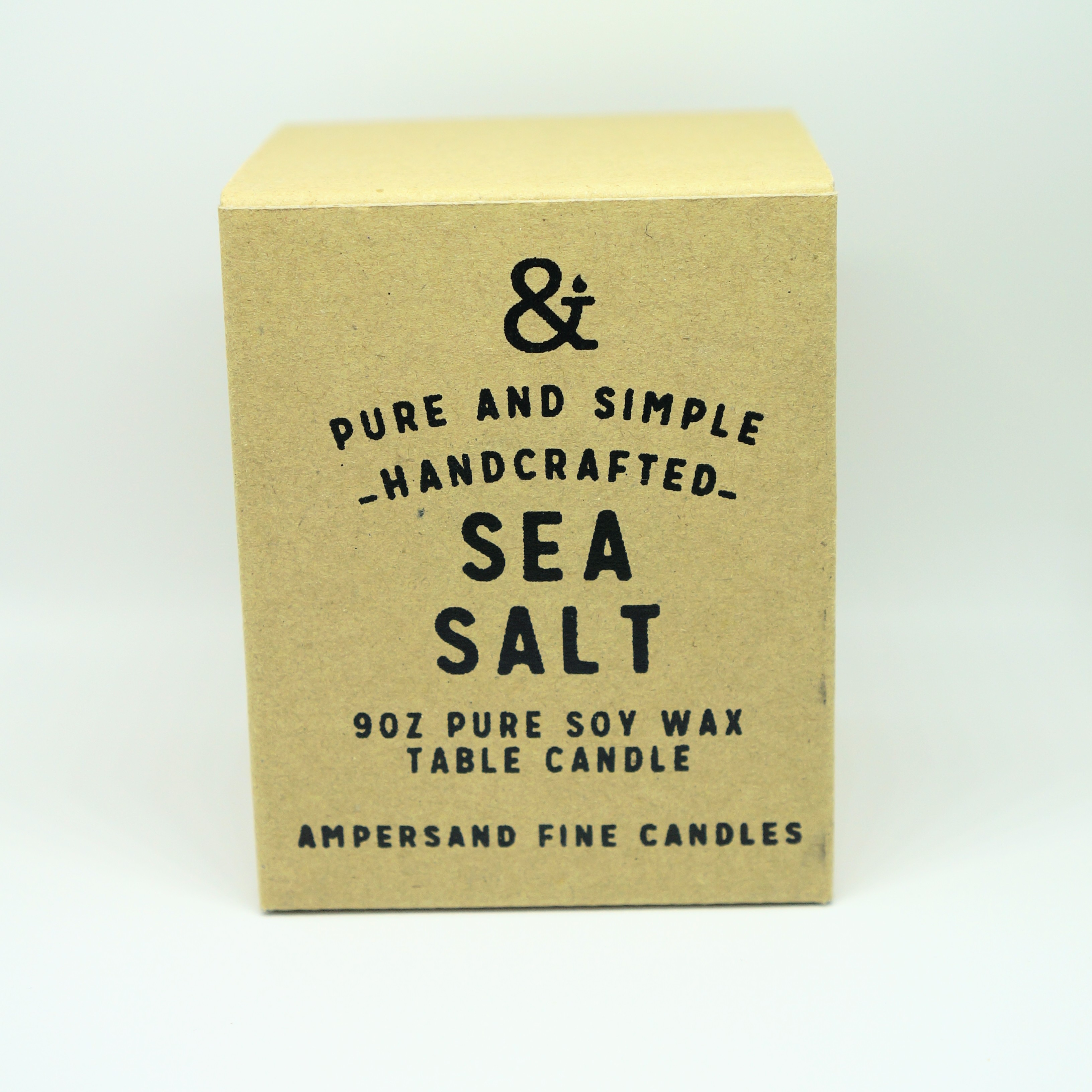 9oz Amber Jar Candle -SEA SALT- キャンドル Candles - 画像1