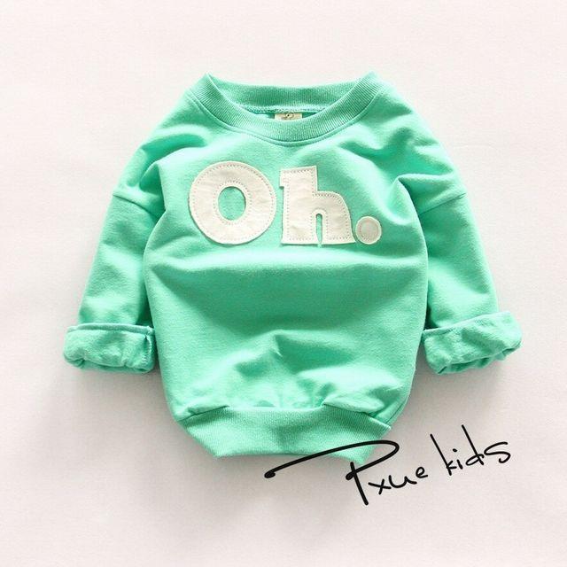 『Oh!』ロゴ パステルカラートレーナー グリーン