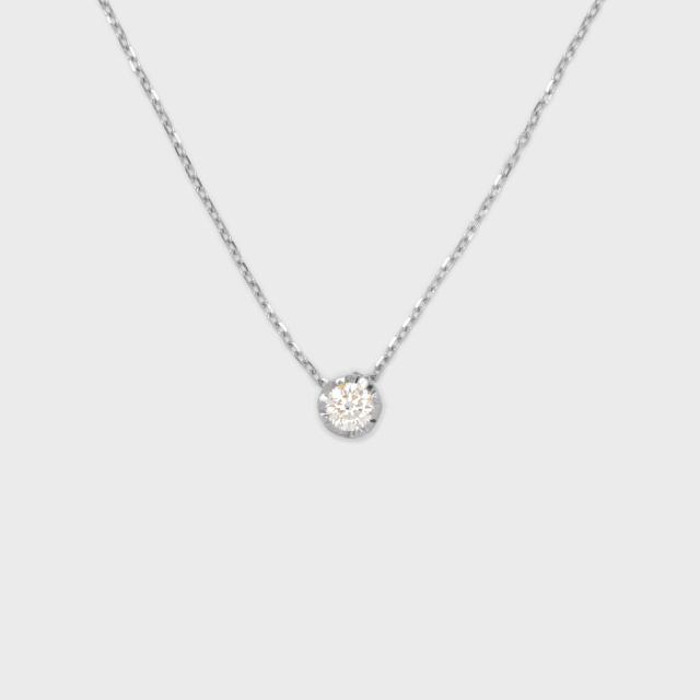 ENUOVE NOTTE Diamond Necklace Pt950(イノーヴェ ノッテ 0.1ct ダイヤモンドネックレス プラチナ950 スライドアジャスターチェーン)