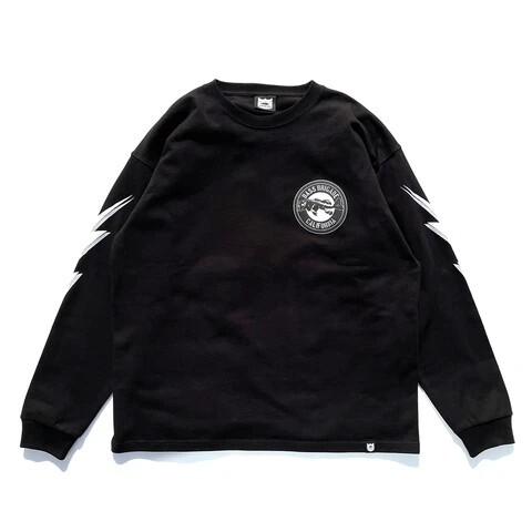 BB CA BONE L/S TEE - BLACK -