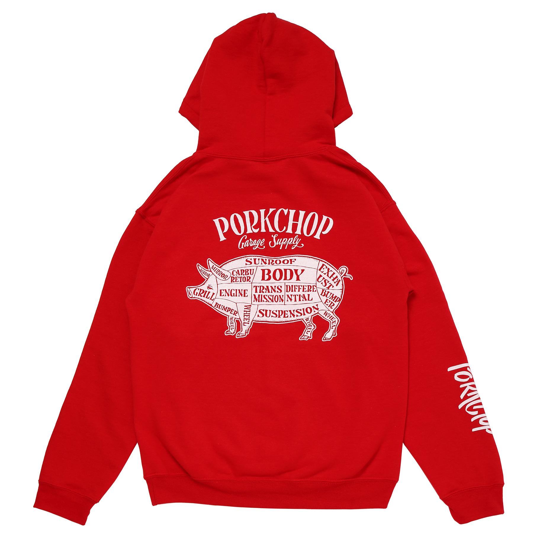 PORK BACK HOODIE/RED