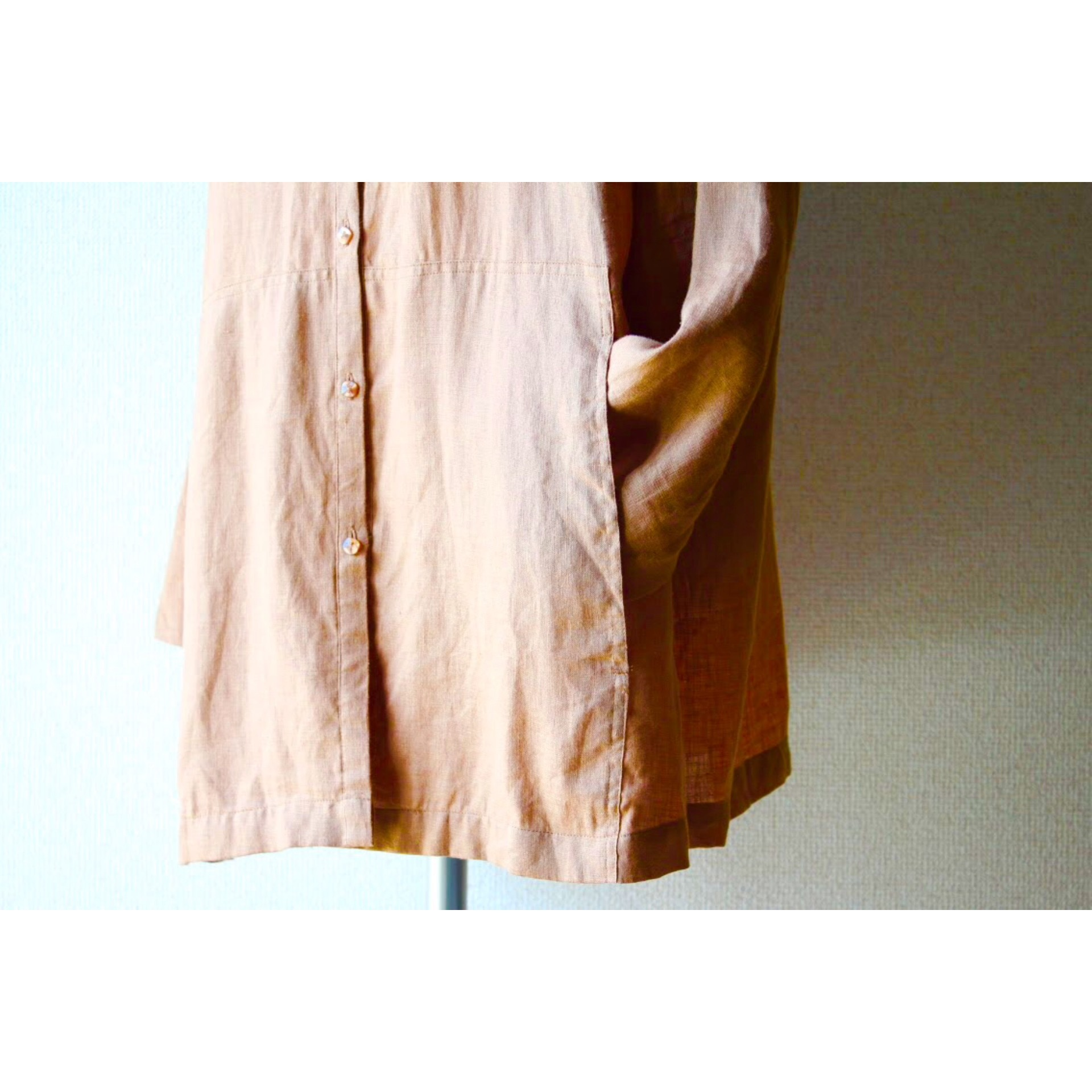 Vintage linen hooded parka