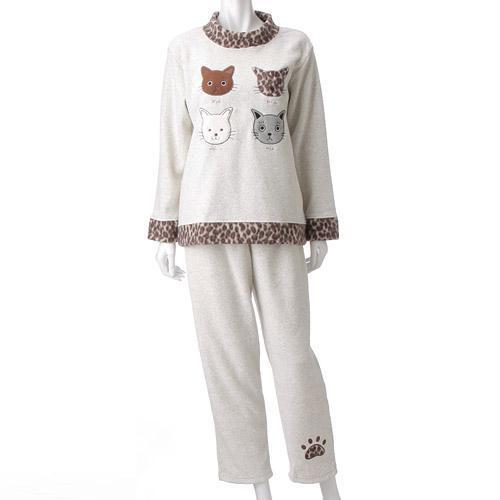 【取り寄せ】ねこパジャマ かぶりタイプ ベージュ