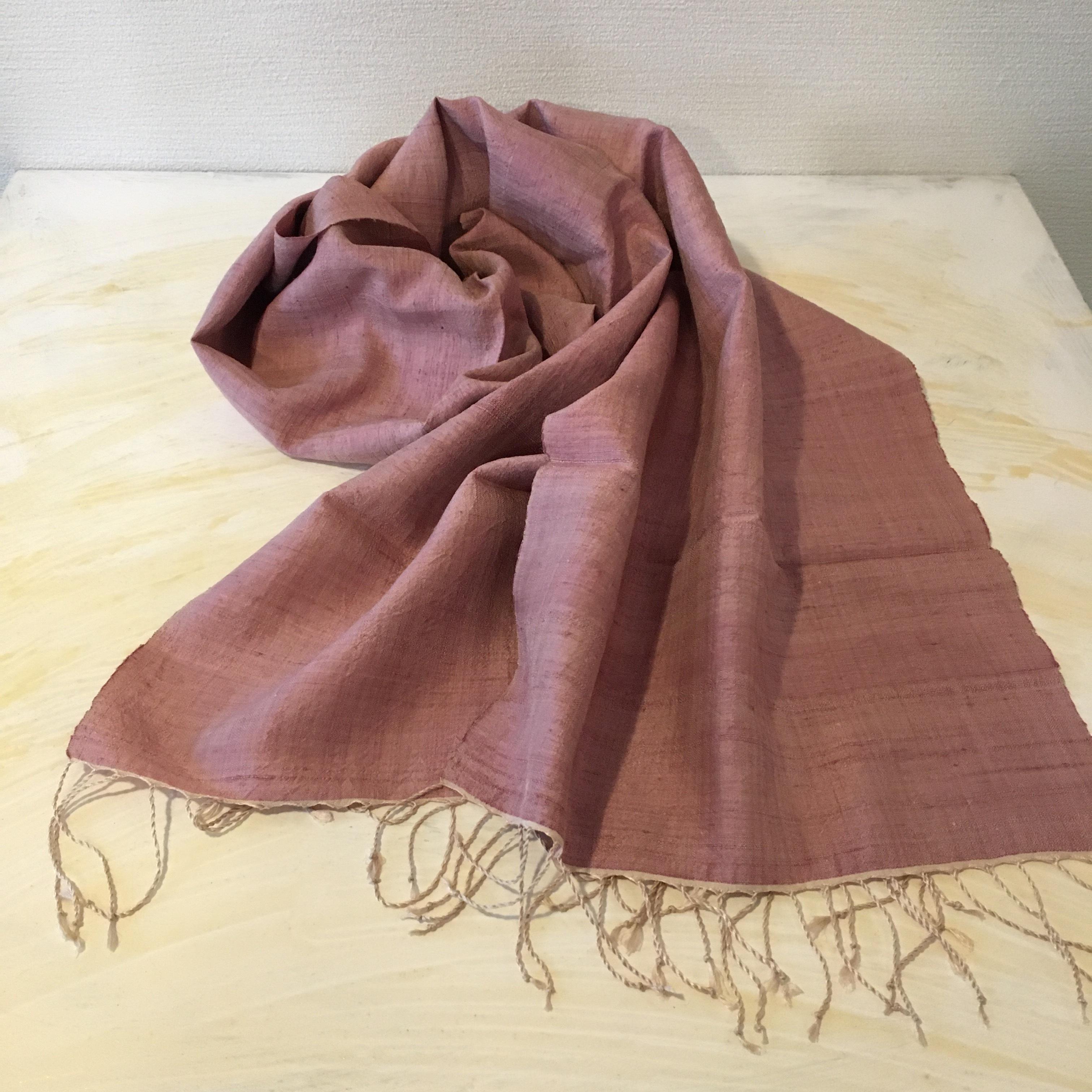 伝統織草木染 マロン カンボジアシルクショール