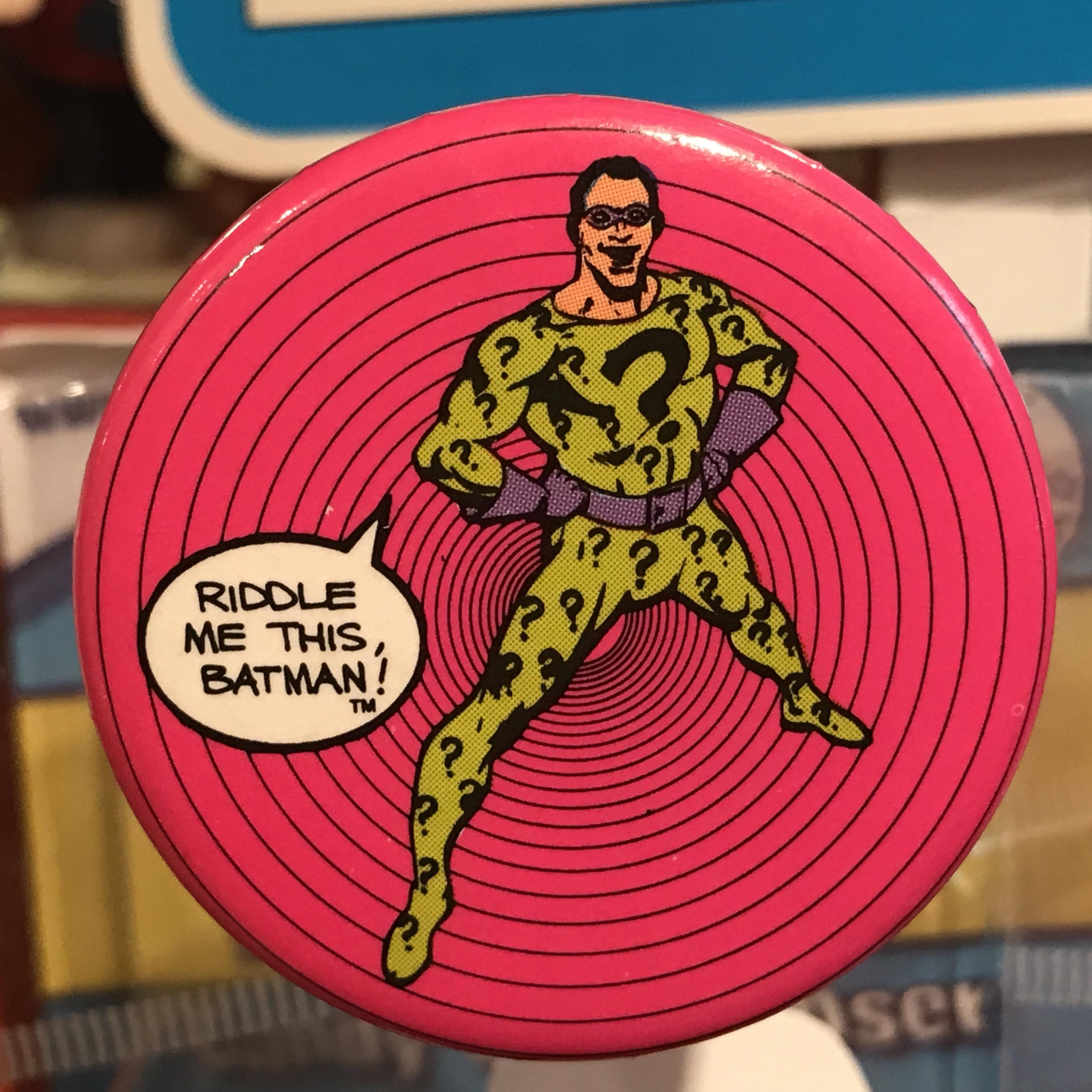 バットマン オールド 缶バッジ リドラー(Riddler)