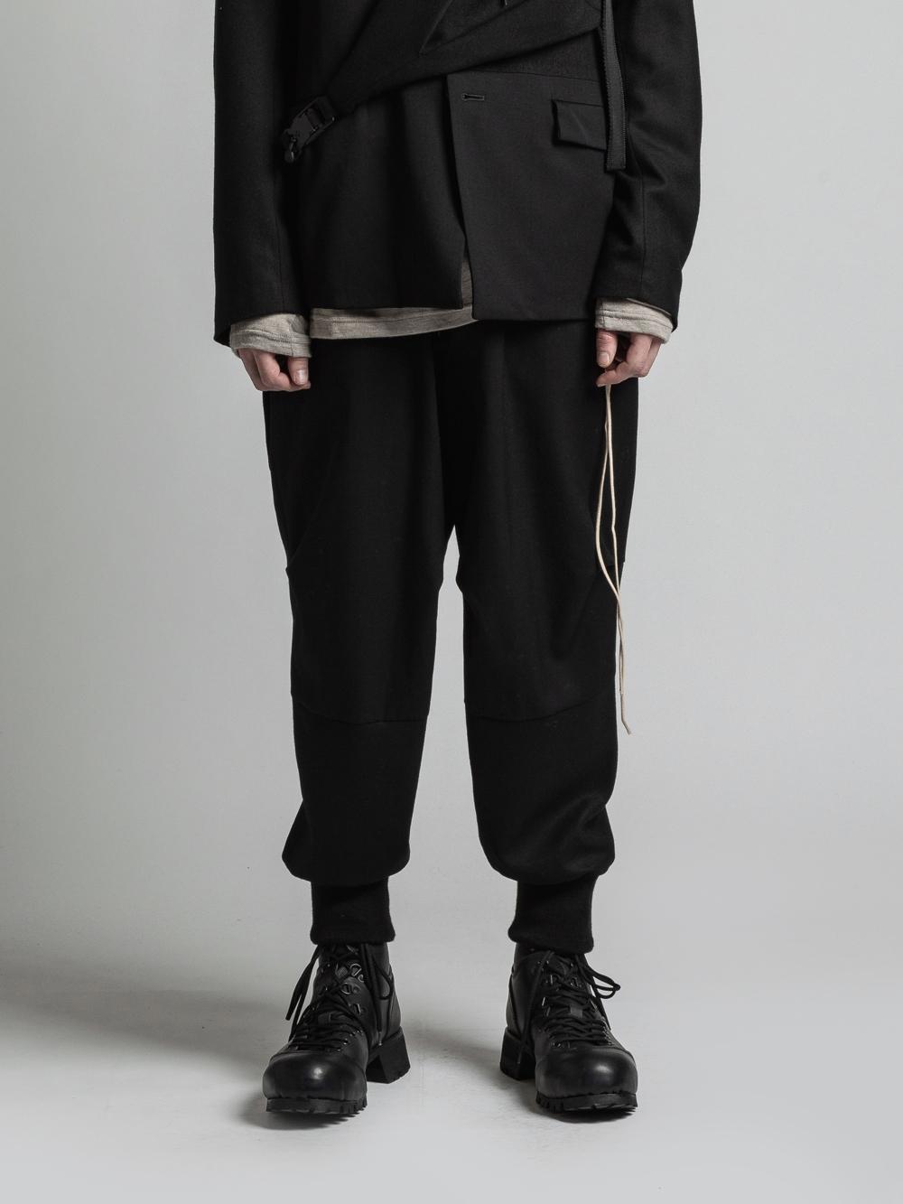 VI-3266-04 / ウールコンビネーション裾リブパンツ