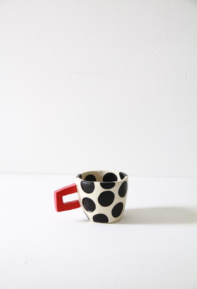 cup  水玉 black 04