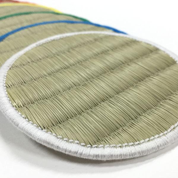 シンプル畳コースター 6枚セット 丸型(レギュラーカラー)