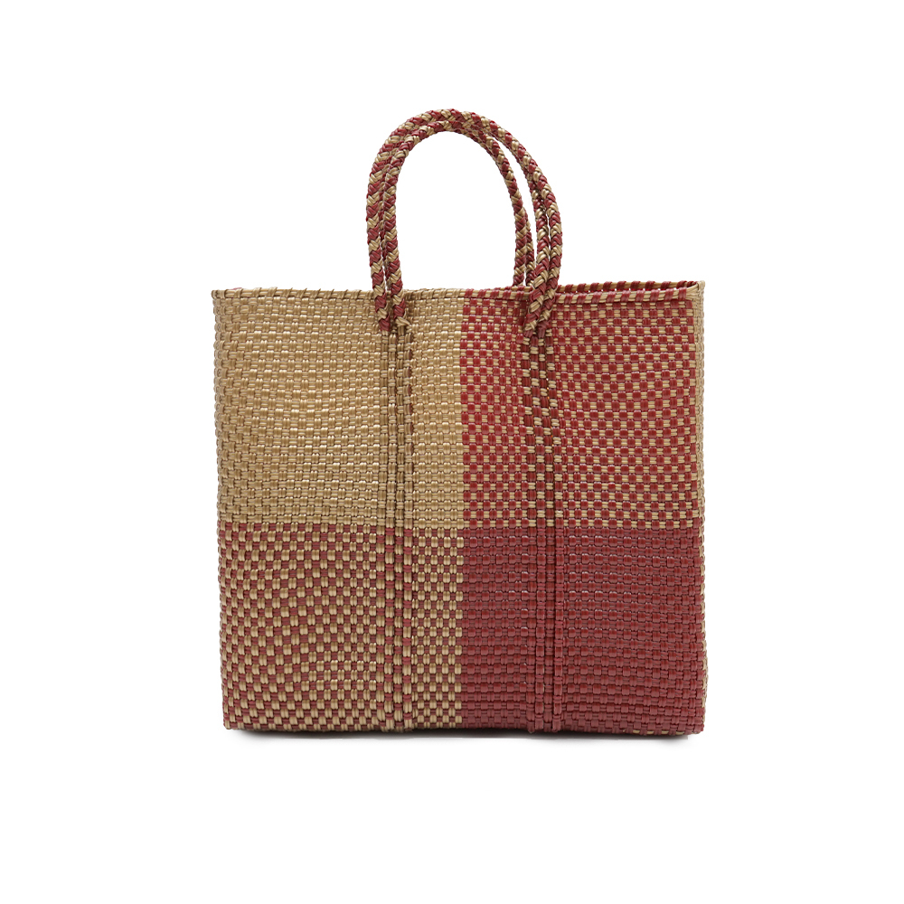 MERCADO BAG BLOKS  -  Darkred x Gold(S)