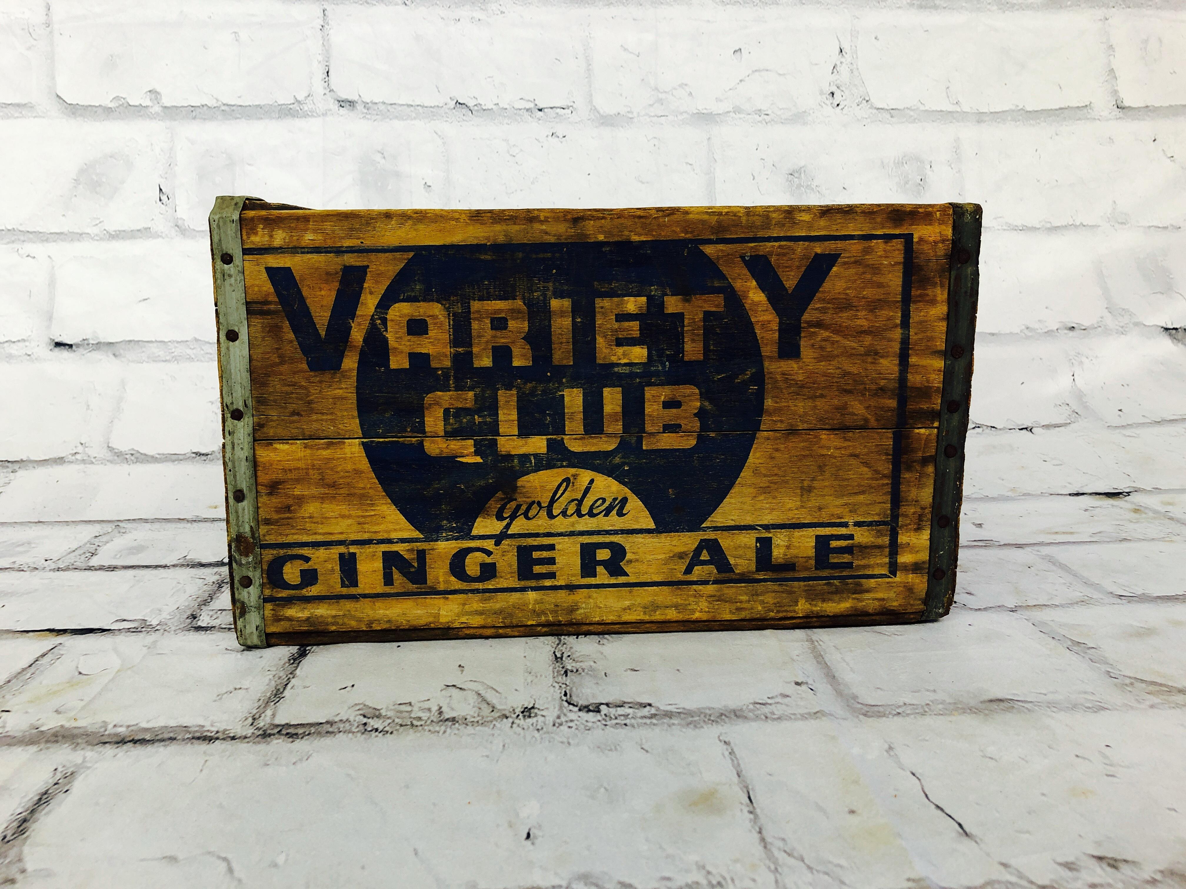 品番0860 木箱 VARIETY CLUB GINGER ALE 収納ボックス BOX ヴィンテージ