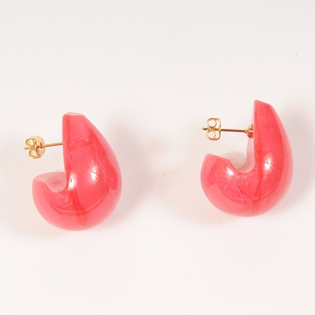 df19SM-J08 DOROP MOTIF PIERCE -B (red)