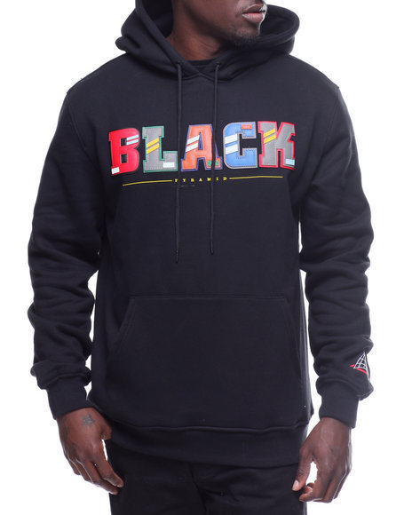 【Blackpyramid】BP Letters Hoody
